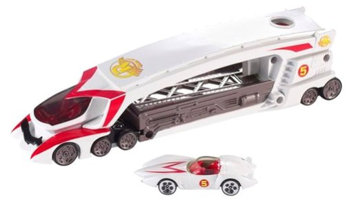 Hot Wheels Speed Racer Launching Big Rig with Mach 5 - Racers Race Rig