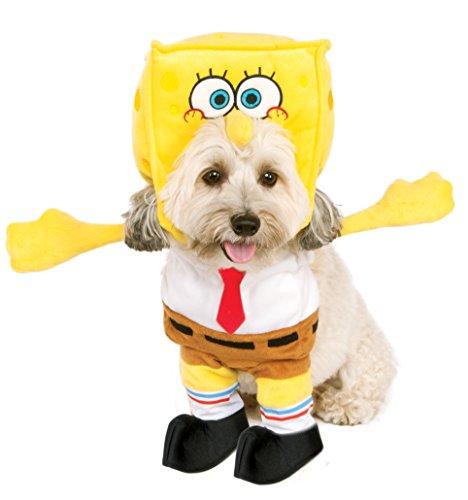 Cheap Spongebob Costume (Rubie's Walking Spongebob Square Pants Pet Costume,)