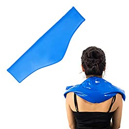 Neck Cold Pack – Reusable Therapeutic Ice Packs – Physical Therapy Gel Wraps for Necks & Shoulders – Flexible Pain Wrap