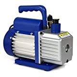 1/4hp Rotary Vane Deep Vacuum Pump 3.5CFM R410a R134 HVAC AC Refrigerant Charge Oil Sight Glass