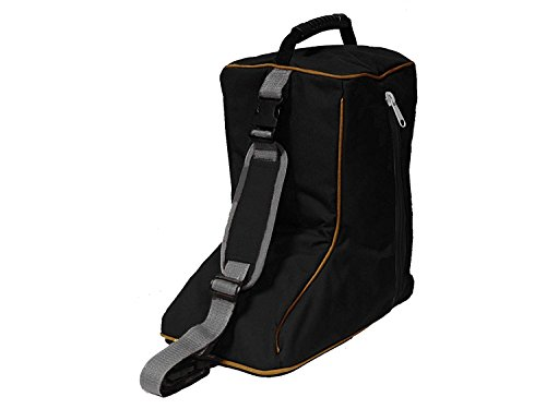 Tahoe Tack Triple Layer Padded Western Boot Carry Bag, Black/Gold Trim ()