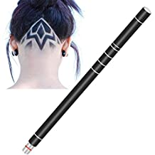 Bzonic Hair Engraving Pen, Professional Undercut Tattoo Trimming Tool Hair Design with 10 Blades and Tweezer
