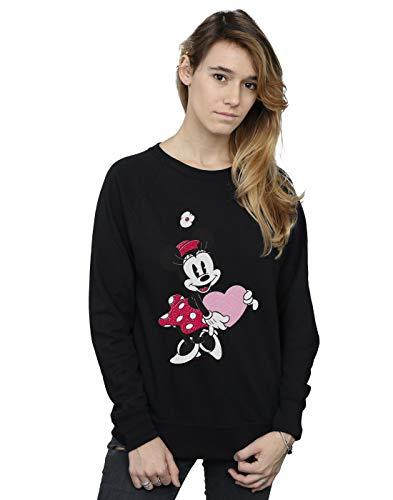 Shirt Disney Mouse Love Noir Minnie Sweat Femme Zqwu85q Heart x14gwgq0aP