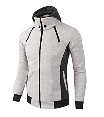 Coolred-Men Zip-Up Casual Loose Slim Fit Stylish Hood
