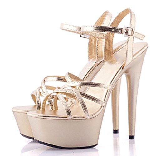 Impermeable LLP Modelo Alto Mujer Sandalias Sandalias Zapatos Plataforma Altos Fondo Grueso de Tacón de Tacones G Profesionales XwwArqf