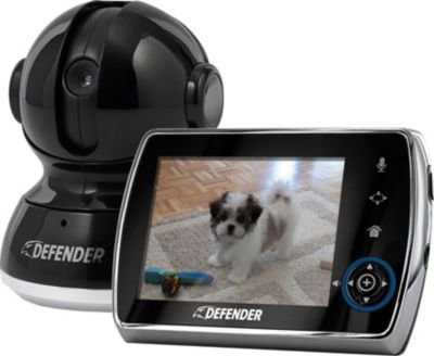 """Defender Phoenix(TM) 3.5"""" Digital Wireless Security Video Monitor System with Invisible LED Night Vision PTZ and Two Way Talk Intercom"""
