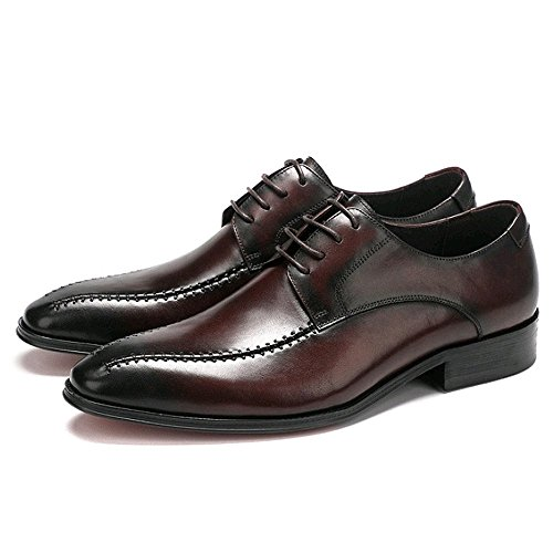 Up NIUMJ Ed Uomo Scarpe Brown Estate d'Affari Primavera da Casuali Lace SSrHxB