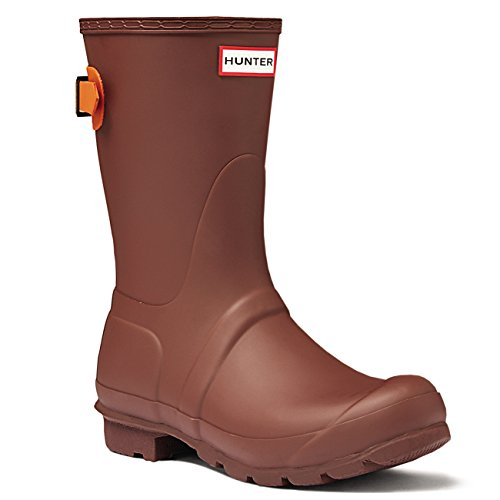 Womens Hunter Original Adjustable Back Short Wellies Festival Rain Boots Umber/Iron Oxide STJj2