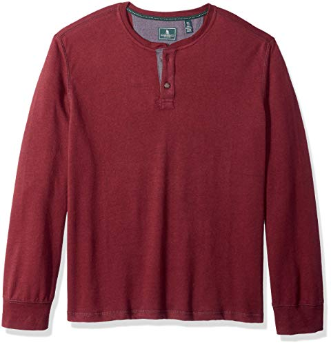 G.H. Bass & Co. Men's Carbon Long Sleeve Jersey Henley Shirt, Tawny Port Heather, X-Large from G.H. Bass & Co.