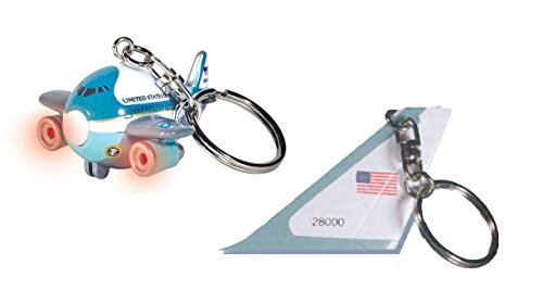 toylandbay Air Force One Donald Trump Key Chain Set 2 Piece Tail Section & Plane with Lights & Sound