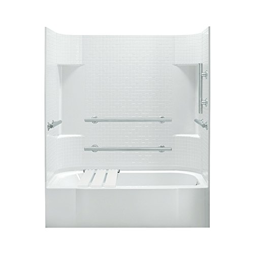 Sterling Plumbing 71140125-0 Accord Bath and Shower Kit, 60-Inch x 30-Inch x 72-Inch, Right-Hand, White by Sterling Plumbing