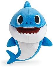 Baby Shark - Daddy Handpop Met Tempo Controle Interactieve Knuffel, Meer Kleurig, 36477