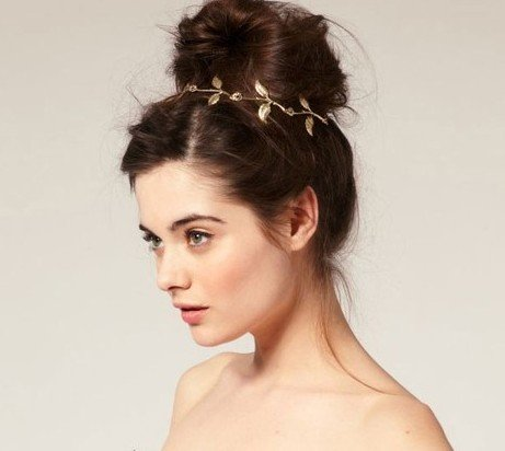 WIIPU New Women's Fashion Metal Leaf Headband Hair Band Hair Accessory(B490)
