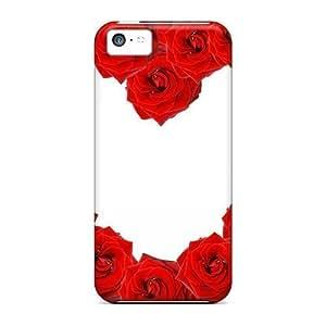 Excellent Design Red Roses Love Heart Phone Case For Iphone 5c Premium Tpu Case