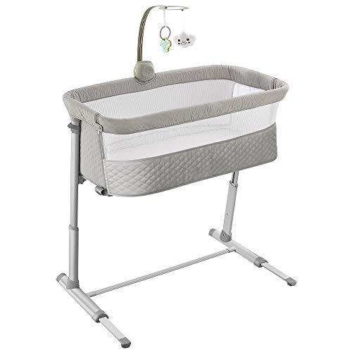 416UE4NsCYL - Baby Bassinet,RONBEI Bedside Sleeper Baby Bed Cribs,Baby Bed To Bed, Newborn Baby Crib,Adjustable Portable Bed For Infant/Baby Boy/Baby Girl (Bassinet)