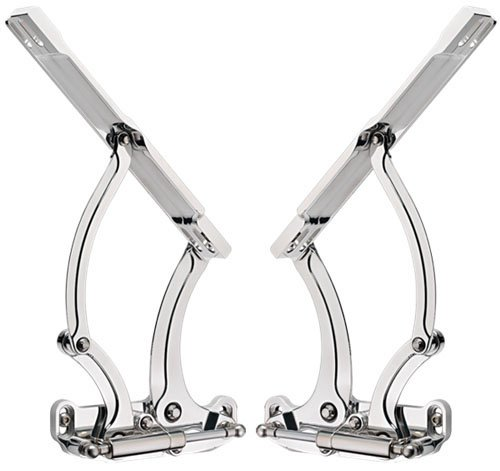 BILLET SPECIALTIES, 67-69 CAMARO, FIREBIRD, 1965-1967 CHEVELLE, POLISHED, HOOD HINGES WITH NECESSARY SPRINGS