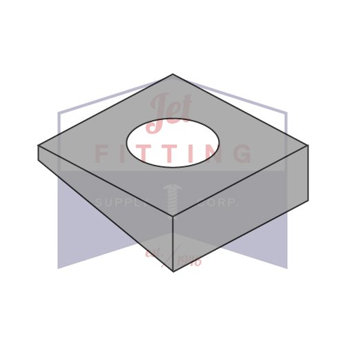 1 INCH Square Beveled Washers | Hardened Steel | Plain | For use with A325 & A490 Structural Bolts | Made in U.S.A. (QUANTITY: 250)