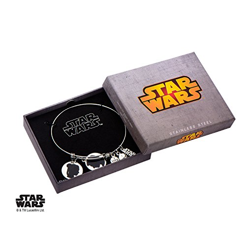 Women's Stainless Steel Star Wars Han Solo and Princess Leia