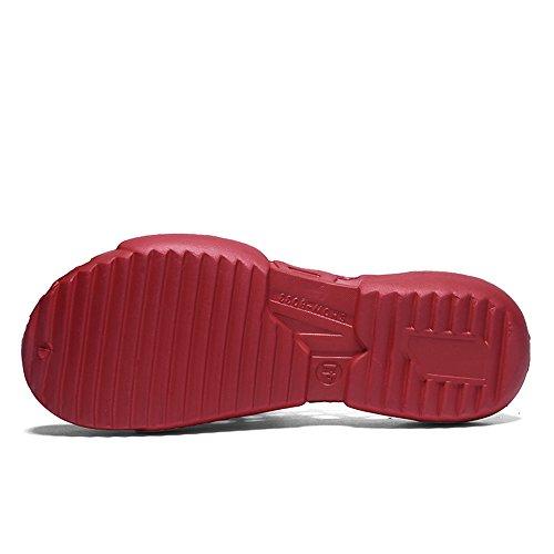 Beach da con Color Sandali Dimensione tacco e 41 Vamp piatto Nero uomo Scarpe Rosso Slip On Hollow donna Jiuyue tacchi da EU Shoes shoes uomo da BZqzx5RU8w