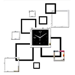 2017 living room new wall clock 3d diy clocks home decoration watch horloge murale quartz acrylic mirror stickers free shipping