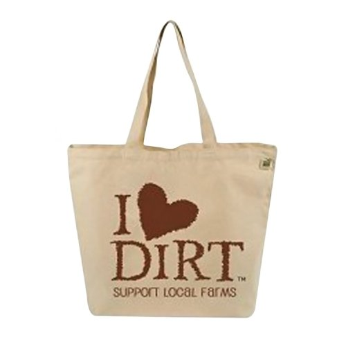 ECO-BAGS TOTE,FARMERS,I LOVE DIRT, CT CASE_10 by Ecobags