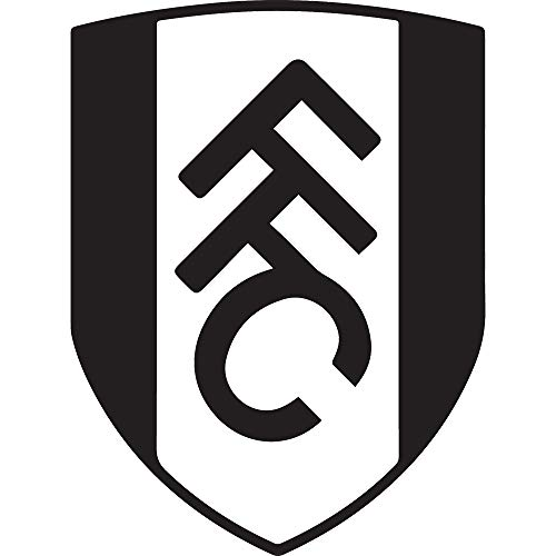 NBFU DECALS FC WEST London, England FC Fulham (Black) (Set of 2) Premium Waterproof Vinyl Decal Stickers for Laptop Phone Accessory Helmet CAR Window Bumper Mug Tuber Cup Door Wall Decoration