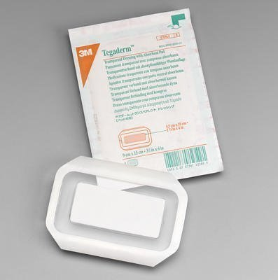 3M Tegaderm +Pad Transparent Dressing with Absorbent Pad - 2 3/8