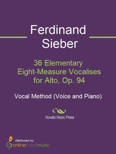 (36 Elementary Eight-Measure Vocalises for Alto, Op. 94)