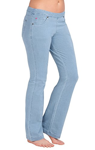 PajamaJeans Womens Bootcut Stretch Knit Denim Jeans, Clearwater Wash, Small 4-6 ()