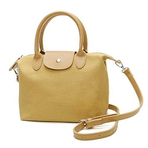 Shoulder Ecotrump Shopping Canvas Crossbody Totes Handbag Women Bag Casual Yellow Messenger 66c4grqPTH