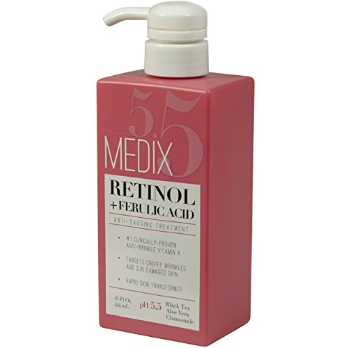 Medix 5.5 with Ferulic Treatment. Wrinkles and Anti-Aging Infused Black Vera, And