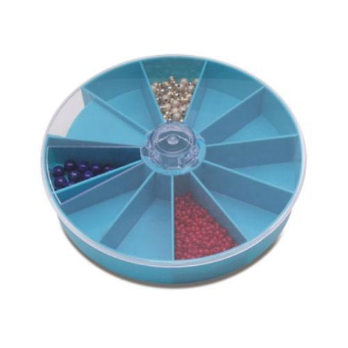 Storage Tray With Rotating Lid and 10 Compartments by Jewelry Displays & Boxes