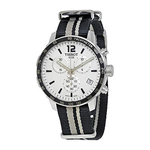 Tissot Men's Stainless Steel Quartz Watch with Nylon Strap, White, 19 (Model: T0954171703710) (White Watch Tissot)