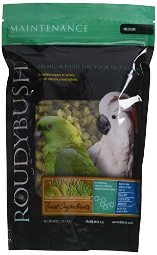 RoudyBush Daily Maintenance Bird Food, Medium, 8-Ounce ()