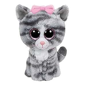 Amazon Com Ty Beanie Boos Willow Gray Tabby Cat