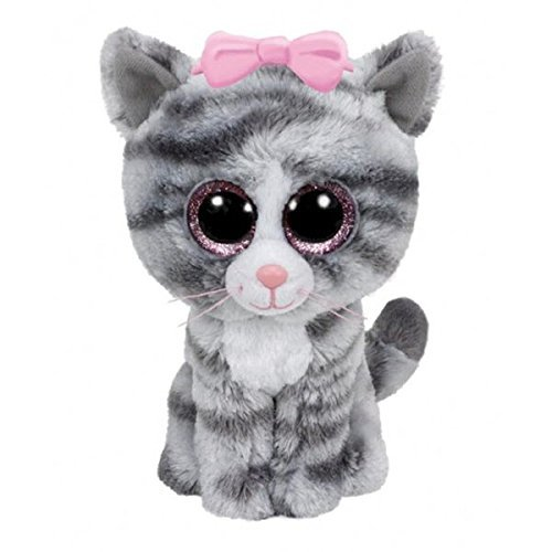 - Ty Beanie Boos Willow - Gray Tabby Cat (Justice Exclusive)