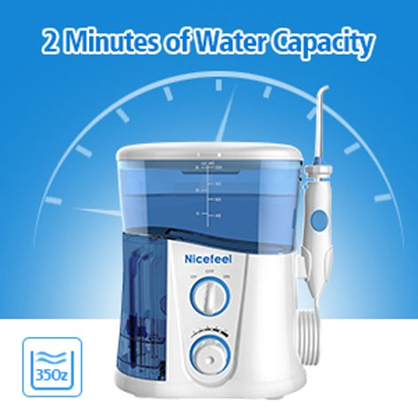 NICEFEEL Electric Dental Water Flosser | Easily Remove Dental Plaque and Food Particles From Teeth | Perfect For Family Oral Care