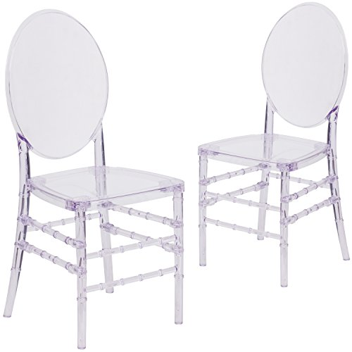 Flash Furniture 2 Pk. Flash Elegance Crystal Ice Stacking Florence Chair by Flash Furniture