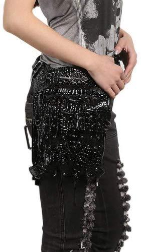 Steampunk Frauen Männer Männer Männer Mode Schwarz PU Leder Größe Einzel Doppel Umhängetaschen Rucksäcke Mit Metallnieten B07FTJHLXM Umhngetaschen Fairer Preis 1521e3