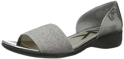 Anne Klein Sport Women's Kaesha Synthetic Wedge Sandal,Pewter,5 M US
