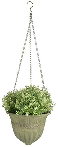 Esschert Design AM73 Aged Metal Green Hanging Basket Large