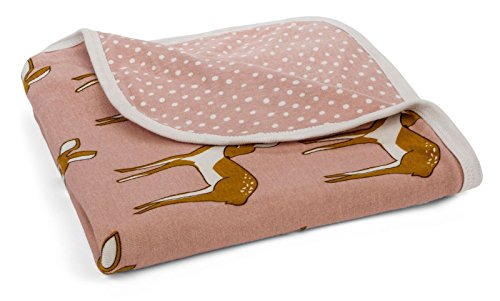 MilkBarn Organic Cotton Stroller Blanket - Rose Doe