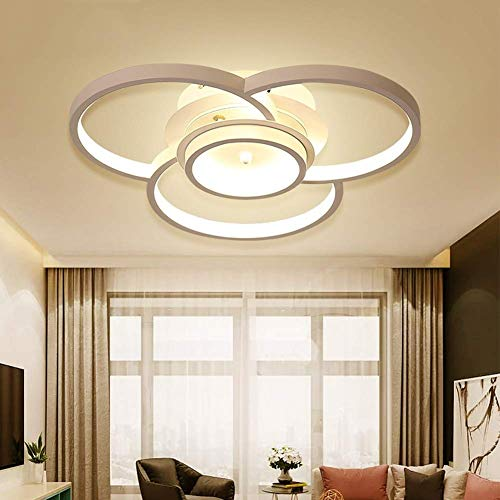 BOSSLV Modern Led Ceiling Light Modern Flower Design Metal and Acrylic for Dining Hall Parlor Bedchamber Patio Stepless Diameter 45 x 8 cm 2800 Lm