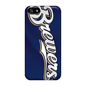 New Diy Design Milwaukee Brewers For Iphone 5/5s Cases Comfortable For Lovers And Friends For Christmas Gifts