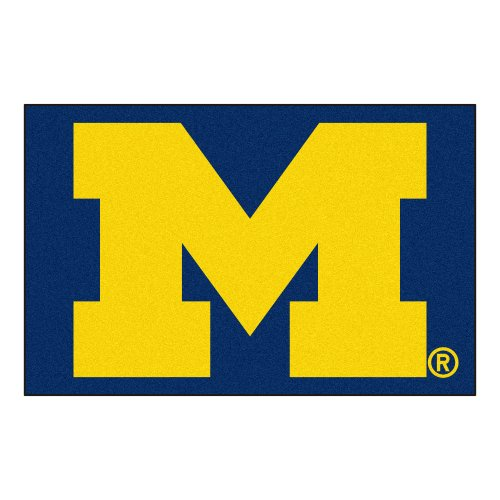 - FANMATS NCAA University of Michigan Wolverines Nylon Face Starter Rug