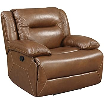 Amazon Com Homelegance Double Reclining Sofa Brown