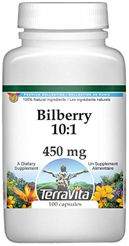 Bilberry 10:1-450 mg (100 Capsules, ZIN: 519177) - 2 Pack