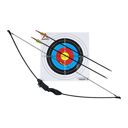 Geelife 45″ Basic Archery Bow and Arrow Set Start Recurve Bow Outdoor Sports Game Hunting Toy Gift Bow Kit Set with 2 Arrows and Target Sheet 18 Lb for Teens For Sale