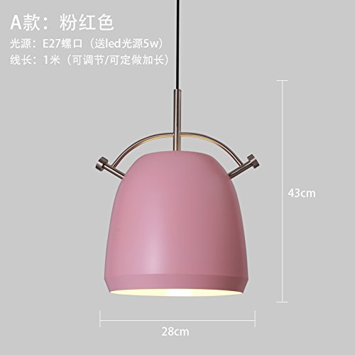 Pink Metal Pendant Light in Florida - 2