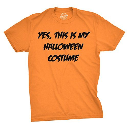 This is My Halloween Costume T Shirt Funny Fake Halloween Costume Parody Tee (Orange) -
